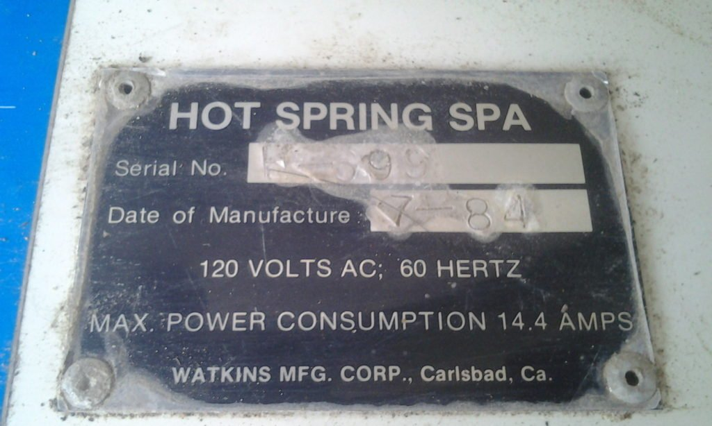 1983 Hot Springs Spa Watkins